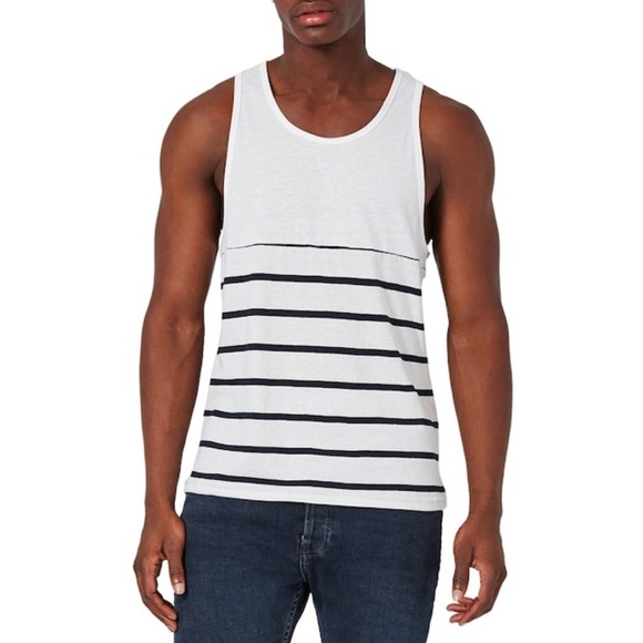 50e0c52642cb0 NWT Men s Topman Breton Striped Tank Top L